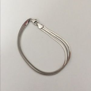 3 Strand 925 Silver Bracelet